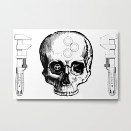 Gear Heads and Monkey Wrenches Metal Print