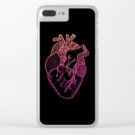 Designer Heart Colors Clear iPhone Case