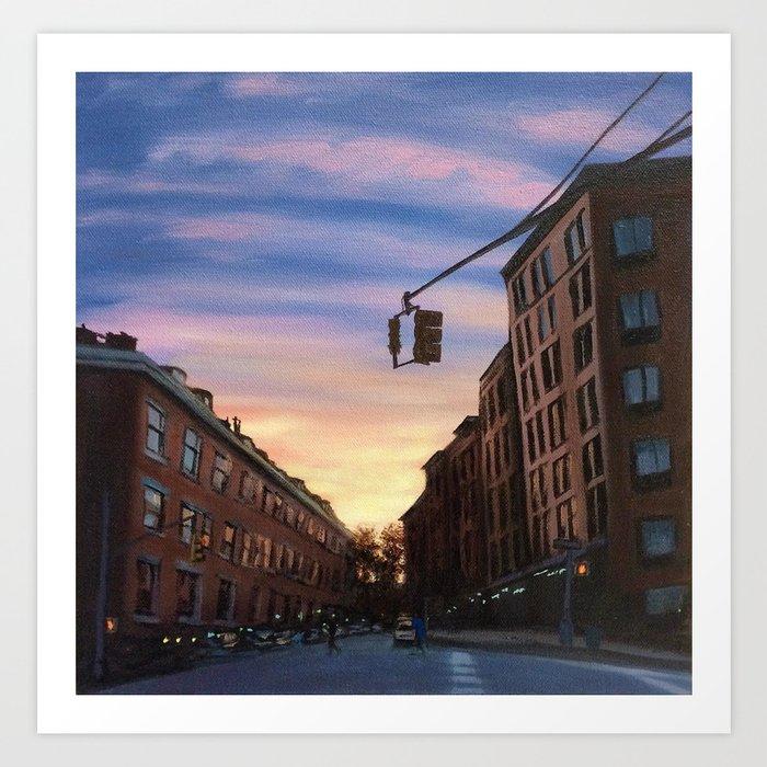 Chelsea Sunset, print of original oil painting Art Print