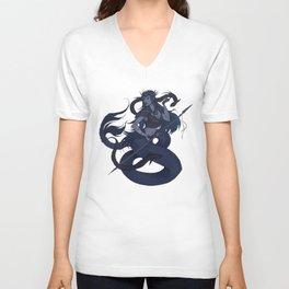 Warrior Mermaid Unisex V-Neck