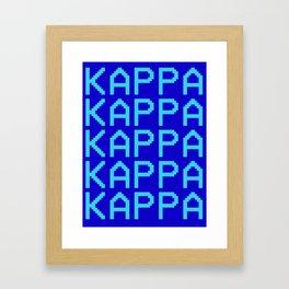 KAPPA PRINT TILE Framed Art Print