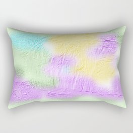 Thick pastel painted texture Rectangular Pillow
