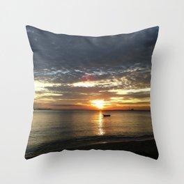 Chasing The Sunset At Koh Samui Throw Pillow