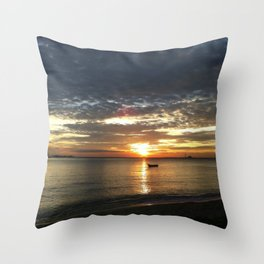 Chasing The Sunset At Koh Samui Throw Pillow