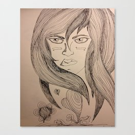 Determinated Canvas Print