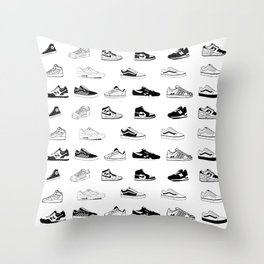 Sneakers White Throw Pillow