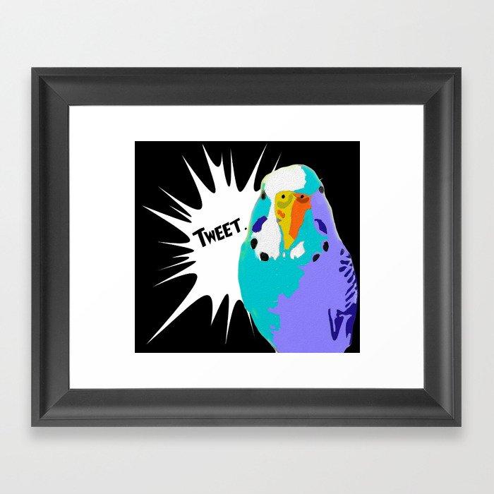 Tweet Keet Parakeet bird Framed Art Print