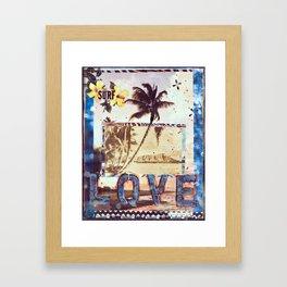 Surf Love, Waikiki, Hawaii Framed Art Print