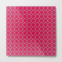 Ruby Red Clover Pattern Metal Print