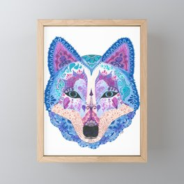 Henna Wolf Framed Mini Art Print