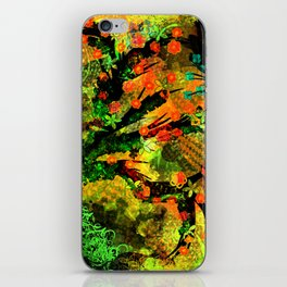 Abstract Art with flowers iPhone Skin