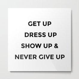 Girl Boss Women Quote Phrase Words Design 355 Metal Print