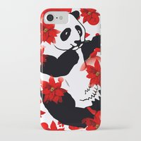 red panda iPhone & iPod Cases featuring Panda by Saundra Myles