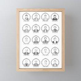 South American Authors Framed Mini Art Print