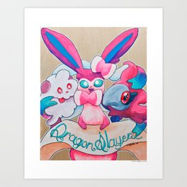 Dragon Slayers Art Print