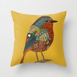 robin gold Throw Pillow