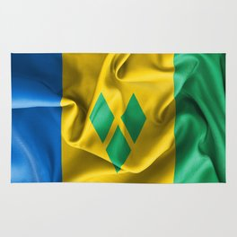 Saint Vincent and the Grenadines Flag Rug