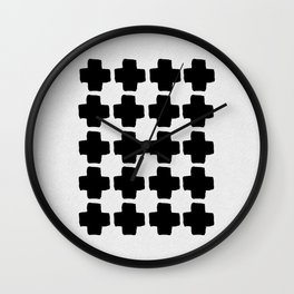 Black and White Abstract III Wall Clock