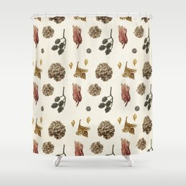 Beech, Larch, Alder, Hazel Shower Curtain