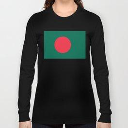 Bangladeshi Flag, High Quality image Long Sleeve T-shirt