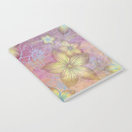 Softly Textured Floral Notebook