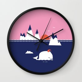 Little Whale Wall Clock