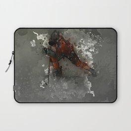 On Ice - Ice Hockey Player Modern Art Laptop Sleeve