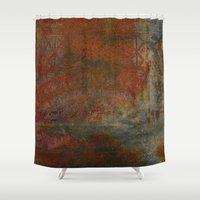 frame Shower Curtains featuring Eroded Frame by Fernando Vieira