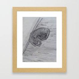 Kat Framed Art Print