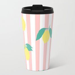 Lemon stripe print Travel Mug