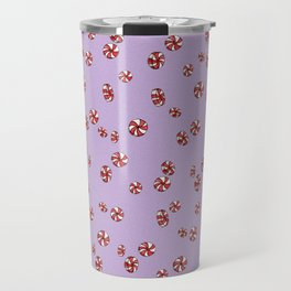 Peppermint Candy in Purple Travel Mug