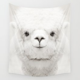 SMILING ALPACA Wall Tapestry