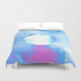 Misplaced Circle Water Duvet Cover