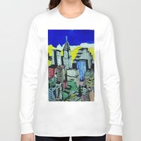 buildings Long Sleeve T-shirts featuring buildings by Halley's Coma