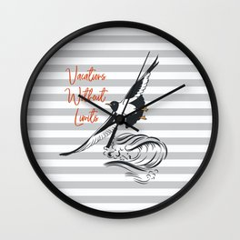 Sea adventure. Vacations without limits Wall Clock