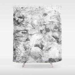 Grayscale Grunge Shower Curtain