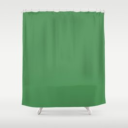 Solid Light Forest Green Color Shower Curtain