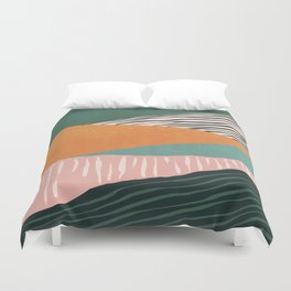 Modern irregular Stripes 02 Duvet Cover