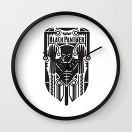 Panther king Wall Clock