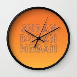 SUPAH DUPAH MEGAH SUNSET Wall Clock