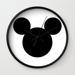 Mickey Mouse Logo PNG Wall Clock