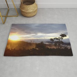 Sunset over the jungle in Costa RIca Rug