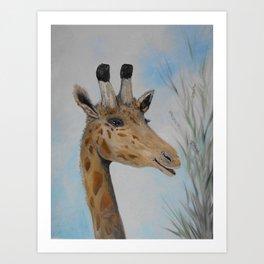 Giraffe Smile Art Print