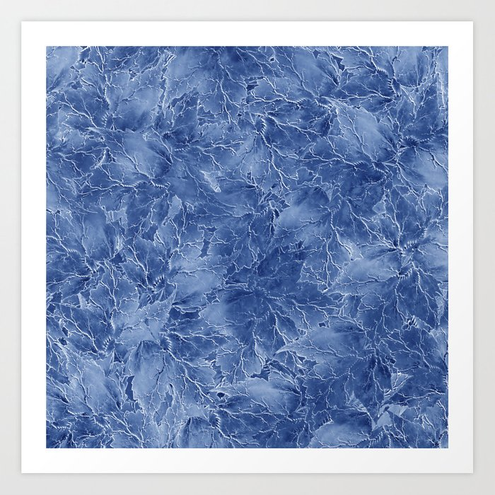 Frozen Leaves 14 Art Print