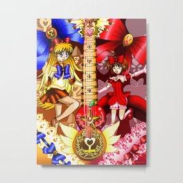 Sailor Mew Guitar #28 - Sailor Venus & Mew Ringo Metal Print