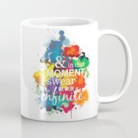 the perks of being a wallflower Mugs featuring And In That Moment I Swear We Were Infinite - Perks of Being a Wallflower - Paint Splatter Poster by ehhdesign