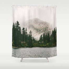 Landscape #photography #fog Shower Curtain
