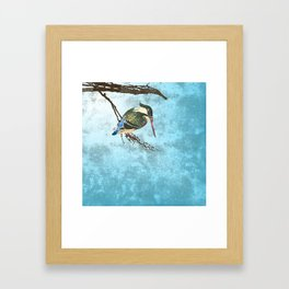 Watching the river Framed Art Print