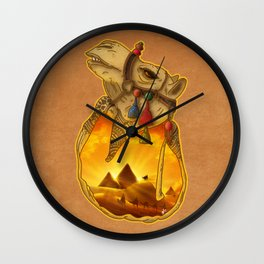 Guardians of the Pyramids Wall Clock