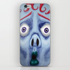Blue Face iPhone & iPod Skin